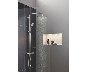 grohe euphoria system 260 duschsystem mit thermostatbatterie f r die wandmontage 27296002 ab. Black Bedroom Furniture Sets. Home Design Ideas