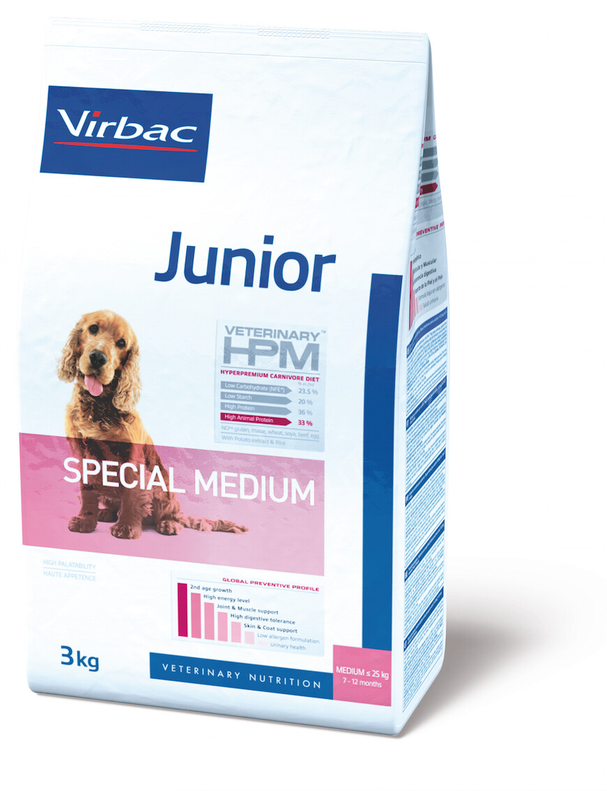 Virbac Veterinary HPM Junior Dog Special Medium
