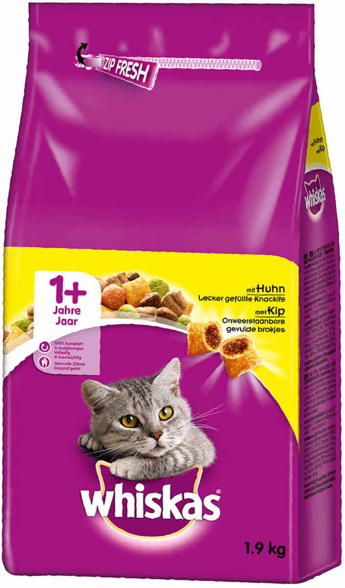 Image of Whiskas + 1 with chicken (3,8 kg)