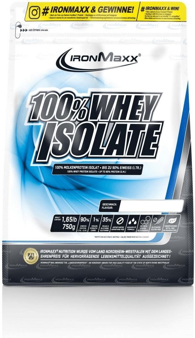 IronMaxx 100% Whey Isolate 750g Beutel Neutral