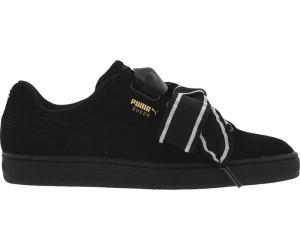Puma Suede Heart Satin II 364084 01 Womens Black sneakers