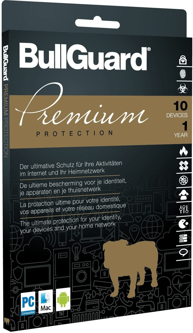 Image of BullGuard Premium Protection 2018 (10 Devices) (1 Year)