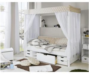 ticaa himmelbett stern mit funktionsschubkasten 90x200cm. Black Bedroom Furniture Sets. Home Design Ideas