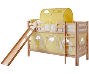 Ticaa Etagenbett Lupo Mit Rutsche : Kinderzimmer lupo und etagenbett l buche massiv weiß ticaa