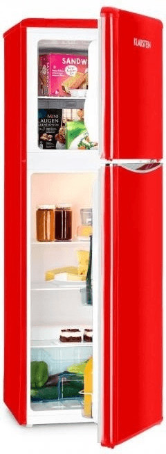 Klarstein Monroe XL Kühl-Gefrierkombination rot