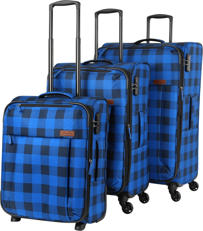 Travelite Campus Trolley Set 52/66/77 cm square blue