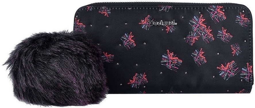 Desigual Mone Zip Around Bloomstar negro (17WAYPBG)