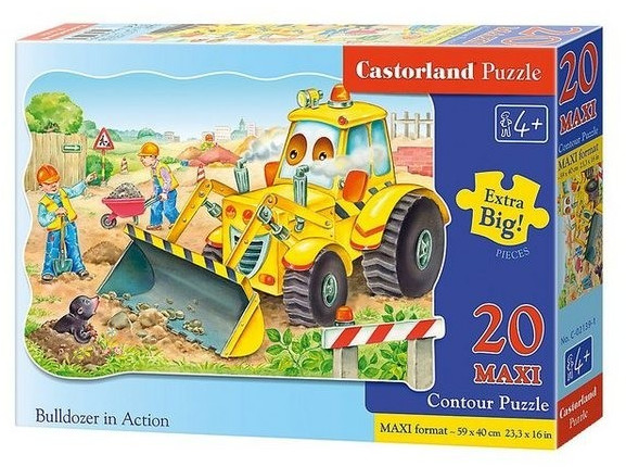 Castorland Maxi-Puzzle: Bulldozer im Einsatz