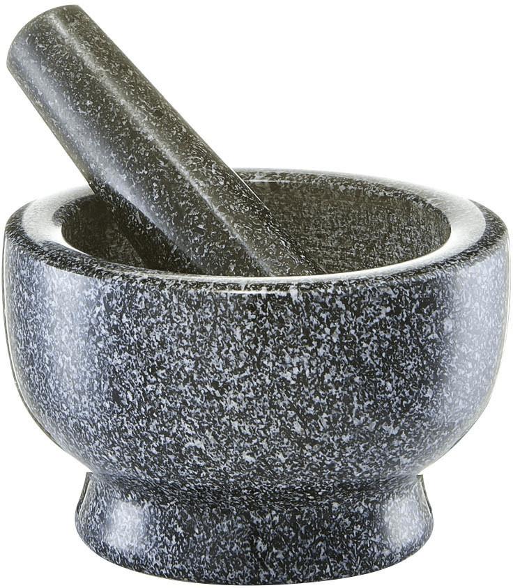 Zeller Mörser & Stößel-Set Granit anthrazit