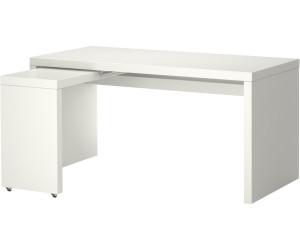 ikea malm schreibtisch mit ausziehplatte 65x73x151cm ab 89 00 preisvergleich bei. Black Bedroom Furniture Sets. Home Design Ideas