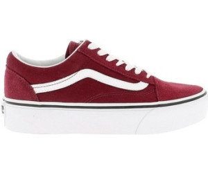 vans old skool plateforme bordeaux