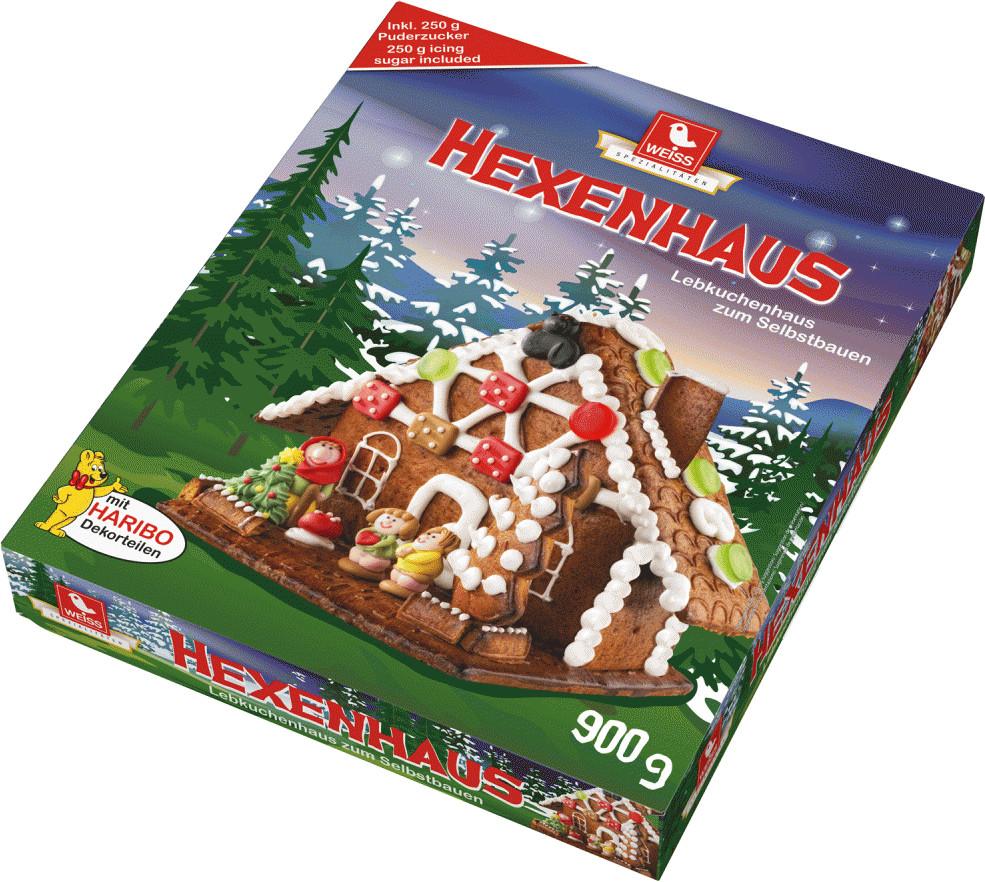 Weiss Lebkuchen Hexenhaus 900g