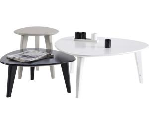 Habitat et Jardin Lot de 3 Tables basses GALET au meilleur prix sur ...