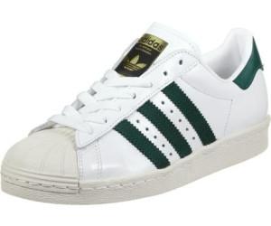 comprare adidas superstar degli anni ottanta bianco / verde / oro metallico da collegiale
