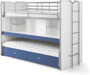 vipack lit superpos bonny 80 bleu au meilleur prix sur. Black Bedroom Furniture Sets. Home Design Ideas