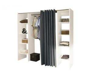 symbiosis dressing extensible 2 colonnes au meilleur prix. Black Bedroom Furniture Sets. Home Design Ideas