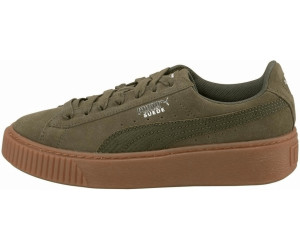Damen Sneakers Suede Platform Trace WNS Oliv (45) 40,5 Puma
