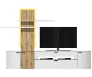 Mca furniture livorno wohnkombination 3 wei hochglanz for Wohnwand livorno