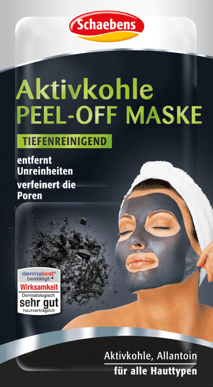 Schaebens Aktivkohle Peel-Off Maske (2 x 8ml)