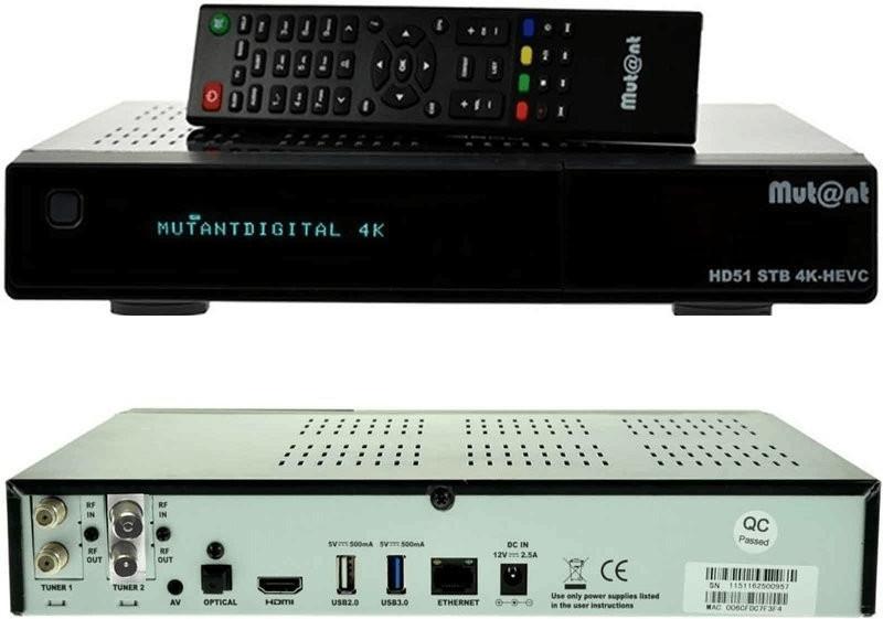 Mutant HD51 4K 1xDVB-S2X + 1xDVB-C/T2