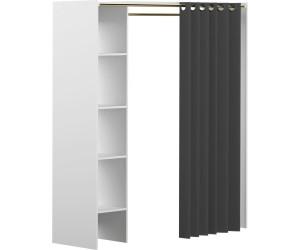 symbiosis dressing extensible 1 colonne blanc rideau. Black Bedroom Furniture Sets. Home Design Ideas