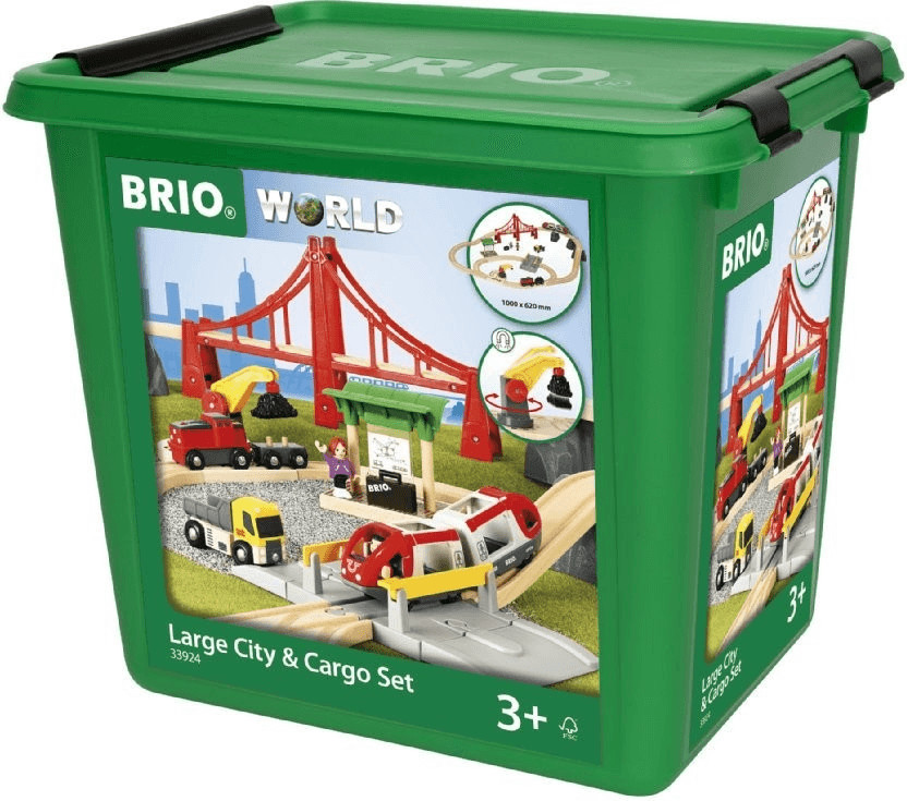 Brio World - Großes City und Frachten Set (33924)