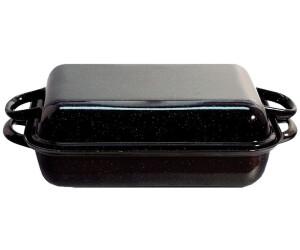Riess Emaille Bratreine blau 41 cm Email Pfanne Bräter Bratpfanne Home Cookware, Dining & Bar Supplies