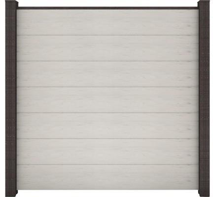 GroJa GrojaSolid Grande BPC Steckzaun-Set 180x170cm Bi-Color weiß