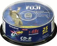 Image of Fuji Magnetics CD-R 700MB 80min 52x 25pk Spindle
