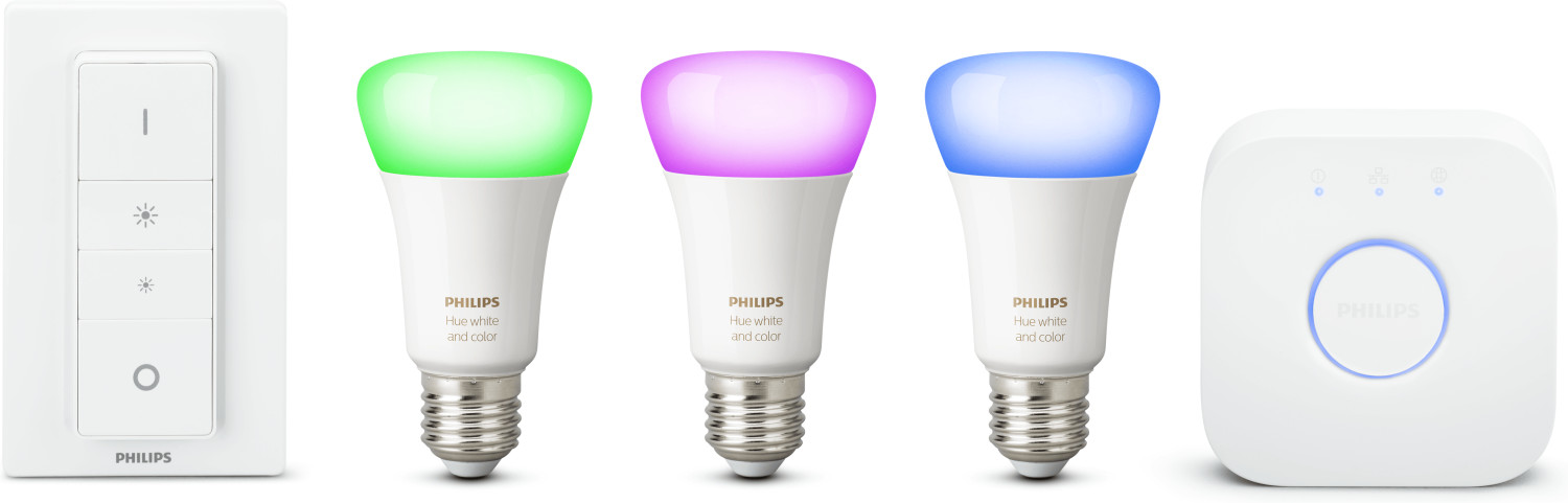 Philips Hue White and Color Ambiance Starter Kit E27 + Schalter