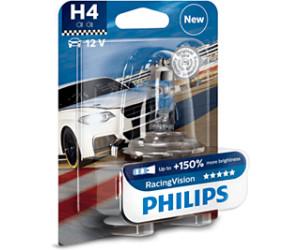 2 x Philips H4 RacingVision bis zu 150/% helleres Licht Halogenlampe