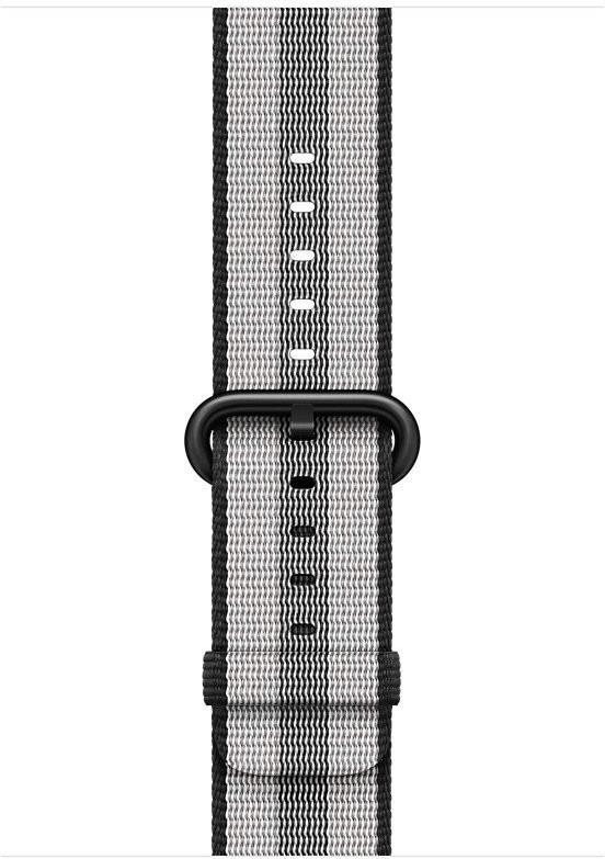 Apple Woven Nylon Band for Apple Watch 42 mm black stripe