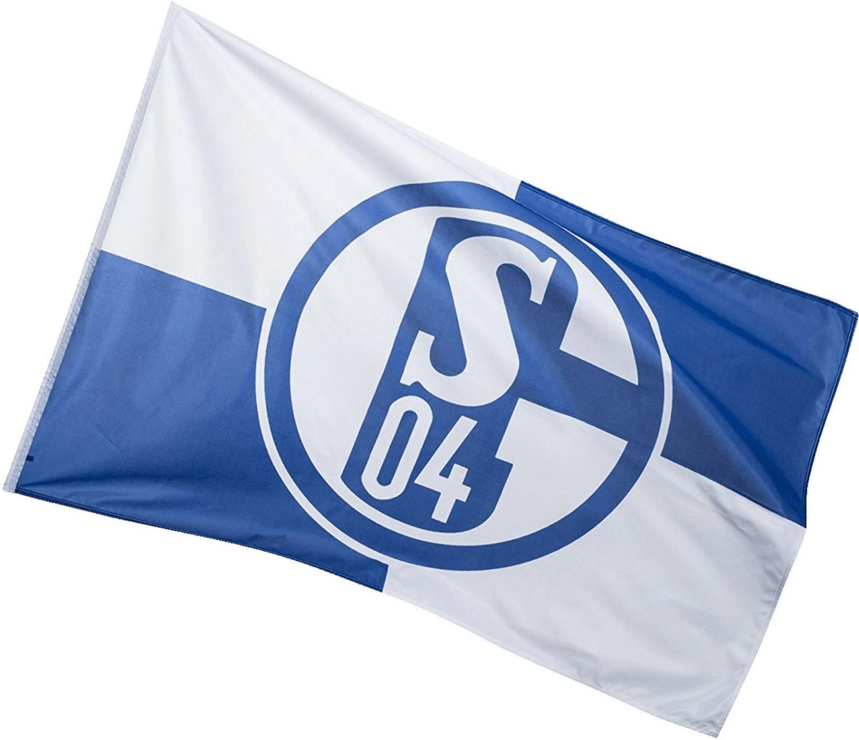Trade Con FC Schalke 04 Fahne blau/weiß 100 x 150 cm