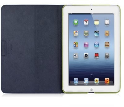 Image of Macally Rotatable Shell-Stand Case for iPad mini green (SSTANDGR-M1)