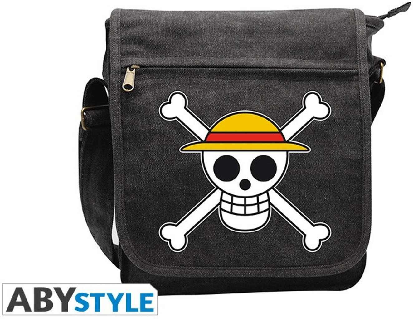 Abystyle One Piece Messenger Bag Skull anthracite