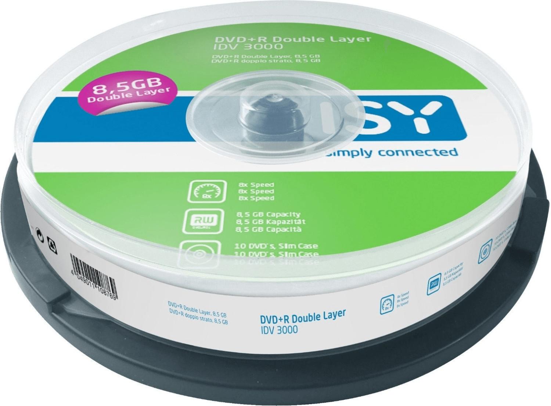 ISY IDV-3000 DVD+R DL 10er Spindel
