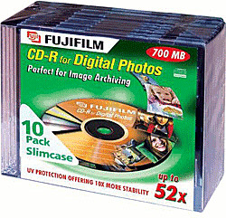 Fuji Magnetics CD-R 700MB 80min 52x 10er Jewelcase