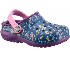 crocs Kinderschuhe Classic Lined Graphic Clog K 204817 Blue Jean/Amethyst 29-30
