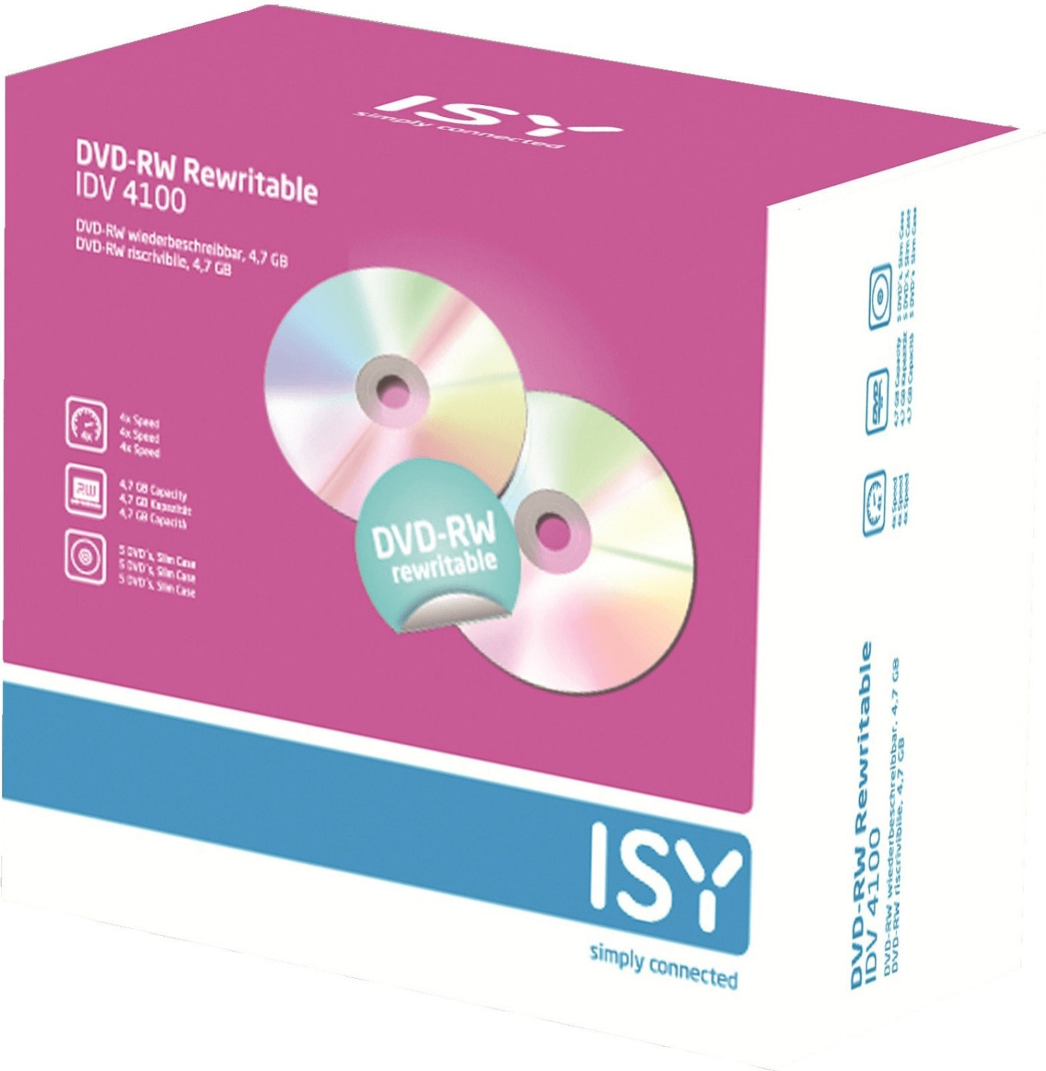 ISY IDV-4100 5er Pack Slim Case