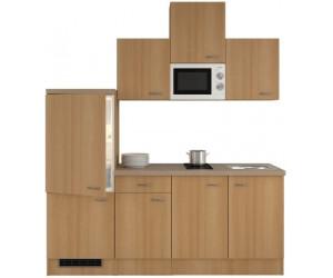 smartmoebel singlek che 210 cm namu buche mit glaskeramikkochfeld ab 698 00. Black Bedroom Furniture Sets. Home Design Ideas