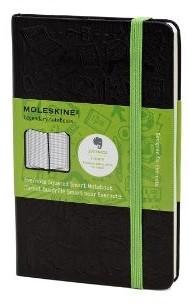 Moleskine Evernote Smart Notebook Pocket A6 Kariert schwarz