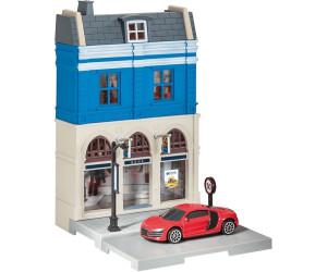 Herpa Bankgebäude mit Audi R8 (800037)
