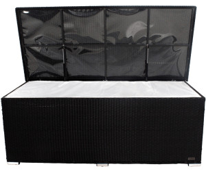 Outflexx Kissenbox 204 x 94 x 75 cm (Polyrattan) schwarz