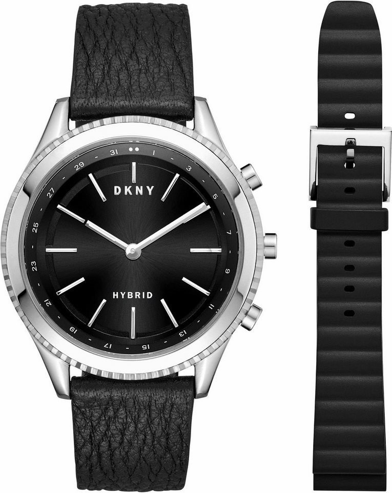 Image of DKNY Minute Rockaway silver/black