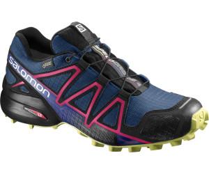 Salomon Speedcross 4 GTX Damen Trailrunning-Schuhe, Blau (Poseidon/Virtual Pink/Sunny Lime), 44 EU