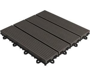 florco bodenfliese wpc anthrazit 30 x 30 cm ab 33 43 preisvergleich bei. Black Bedroom Furniture Sets. Home Design Ideas