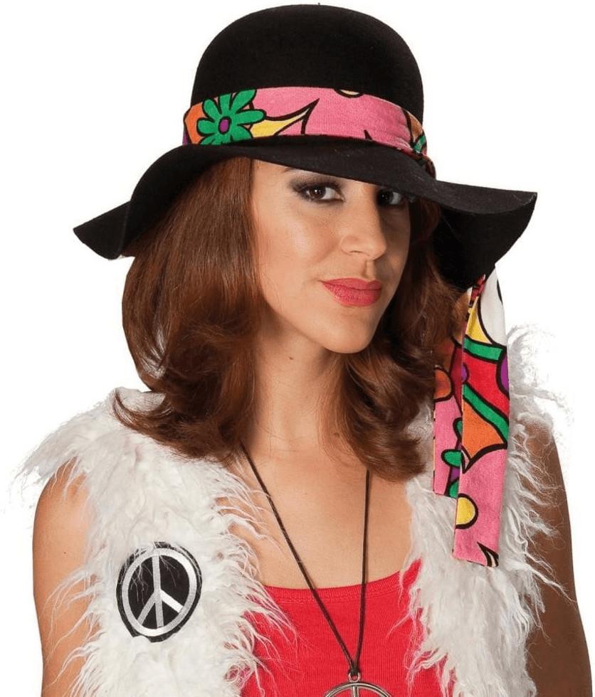 Rubie´s Damenhut Hippie schwarz (466402)