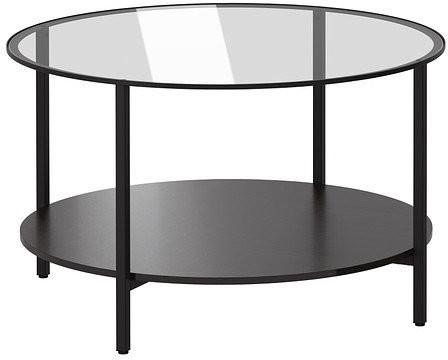 Ikea VITTSJÖ Couchtisch 75cm schwarzbraun (802.133.09)