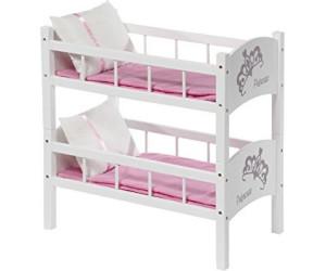 Puppenetagenbett Weiß : Tactic puppenetagenbett diadem weiß ab