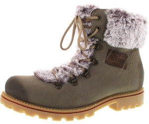 rieker Damen Stiefeletten Schuhe Beige Boots, Größe:39